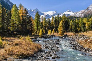 Herfst in het Engadin van Achim Thomae