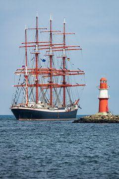 Segelschiffe auf der Hansesail in Rostock von Rico Ködder