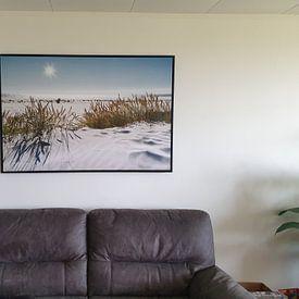 Klantfoto: Nordsee Dünenzauber van Reiner Würz / RWFotoArt, op canvas