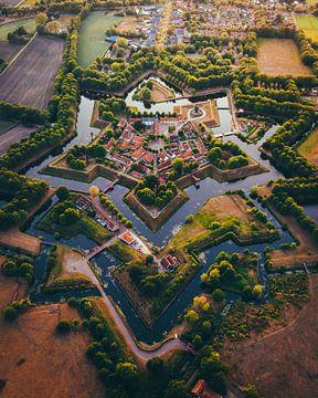Bourtange Groningen, Niederlande aus der Luft von Marion Stoffels