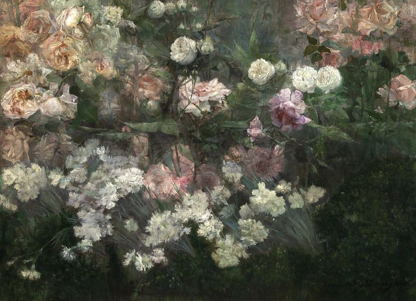 Maria Oakey Dewing~Garten im Mai von finemasterpiece