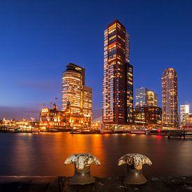 Rotterdam horizon, un paysage ou paysage urbain Wilhelminapier, Southbank, Hollande du Sud, Pays-Bas sur Frank Peters