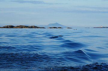 Varen op de zee in Noorwegen sur