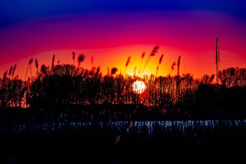 Zonsondergang van Anne Ponsen