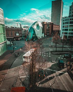 een deel van de stad van boven af. van Sabine Brederode Photography
