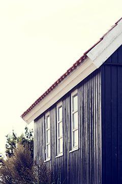 Deens huis in zij detailoverzicht van