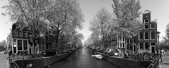 Panorama Leidsegracht in Amsterdam van Pascal Lemlijn