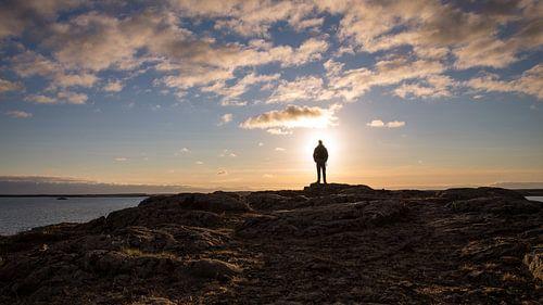 Silhouet in IJsland van