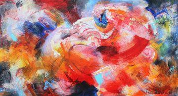 Spiegelung Rot von Atelier Paint-Ing