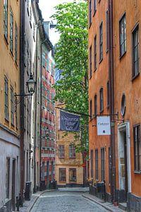 Straat in Stockholm van