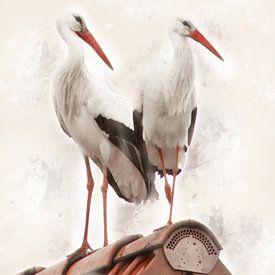 Storchenpaar von Ursula Di Chito