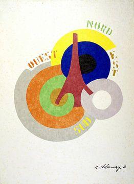Robert Delaunay, Norden, Ochse, Süden, Westen, 1918 von Atelier Liesjes