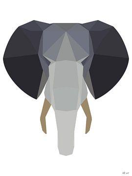 Elefantenkopf von Arie de Korte