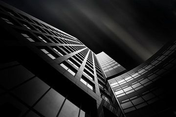 Architectuur op de Zuidas black&white van Silvia Thiel