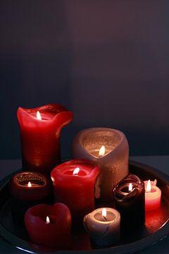 Brennende Kerzen  von Jolanta Mayerberg
