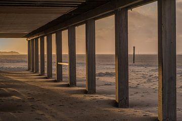 Zonsondergang Midsland aan zee van Paul Algra