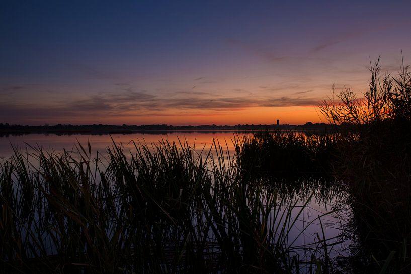 Zonsondergang aan de Belterwijde van Wilko Visscher