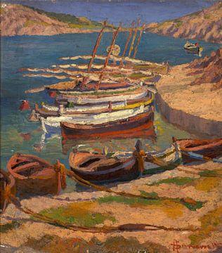 Antoni Samarra Tugues-Boote in einer Bucht