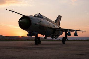 Force aérienne roumaine MiG-21 LanceR A sur Dirk Jan de Ridder