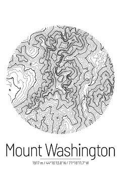 Le Mont Washington | Topographie de la carte (Minimal) sur City Maps