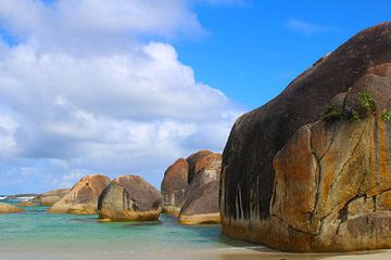 Olifantenrotsen - granieten rotsen in William Bay National Park, Australië van Ines Porada