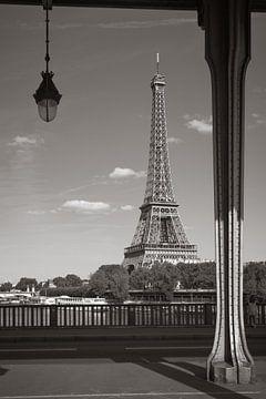 Paris, Eiffelturm in Schwarzweiss von Patrick Löbler