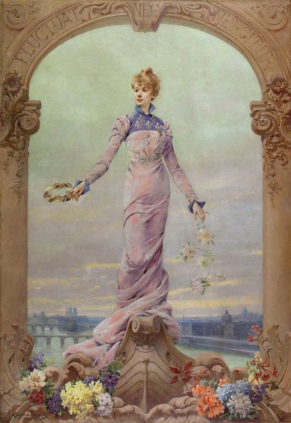 Allegorie der Stadt Paris, Louise Abbéma von Meesterlijcke Meesters