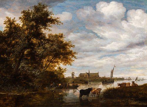 Grote of Sint-Laurenskerk vanuit het noorden, Salomon van Ruysdael van Meesterlijcke Meesters