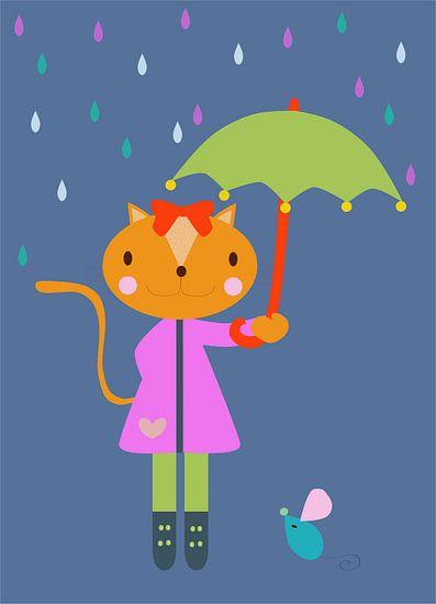 POES met paraplu van Ellis Busscher