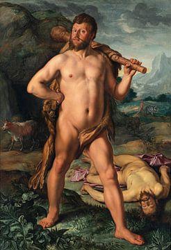 Hercule et Cacus, Hendrik Goltzius sur