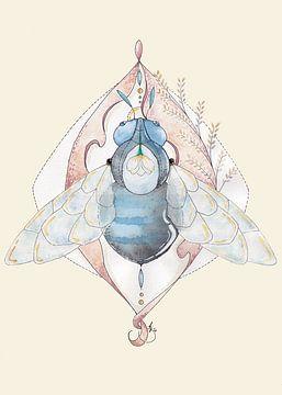 Schwarze Biene des Überflusses von Kirsten Jense Illustraties.