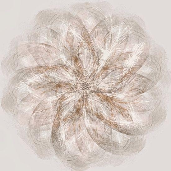 Mandala, spirograaf met bruintinten