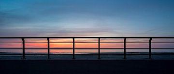 Zonsondergang Oostende van Rik Verslype