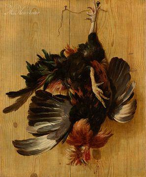 Toter Schwanz hängt an einem Nagel, Melchior d' Hondecoeter