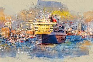 Hamburg Queen Mary 2 van