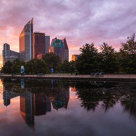 Skyline van Den Haag van Ilya Korzelius