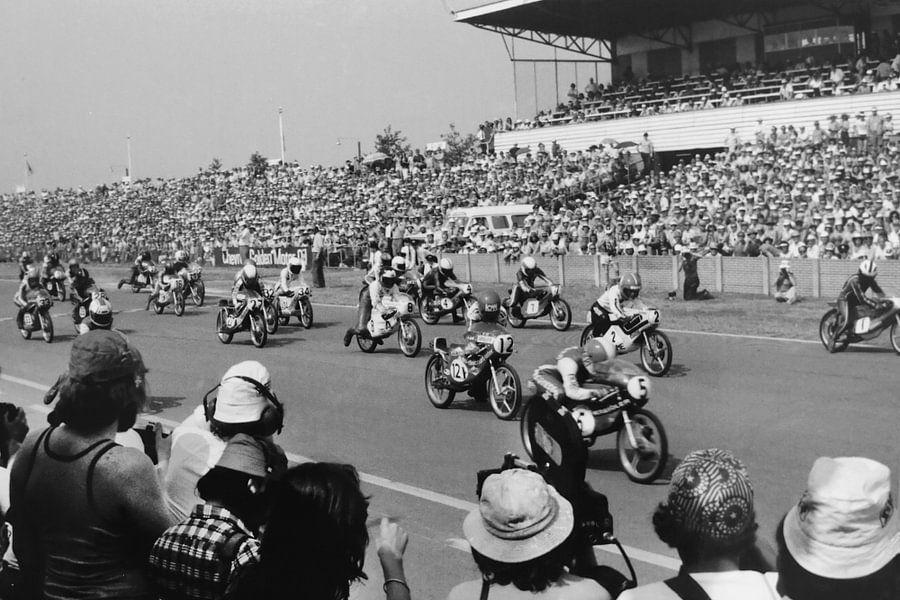Start 50 cc 1976 TT Assen van Harry Hadders