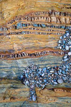 Een detail van een rotswand - Playa del Silencio - 7 van Danny Budts