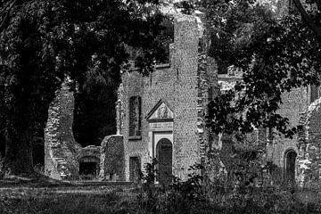 Ruine Schloss Bleijenbeek in Schwarz-Weiß von Ans Bastiaanssen