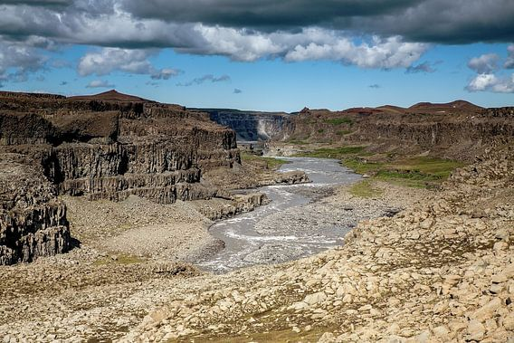 Canyon in het Selfoss gebied
