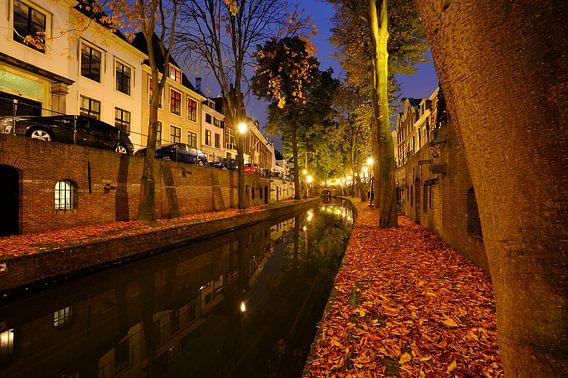 Nieuwegracht in Utrecht tussen de Pausdambrug en de Paulusbrug  van Donker Utrecht