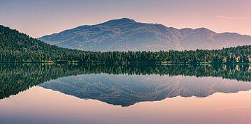 Ochtendlicht met reflectie bij Lake Paringa van Henk Meijer Photography