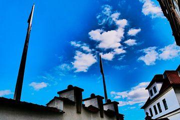 Prague - L'air au-dessus de la rue sur Wout van den Berg