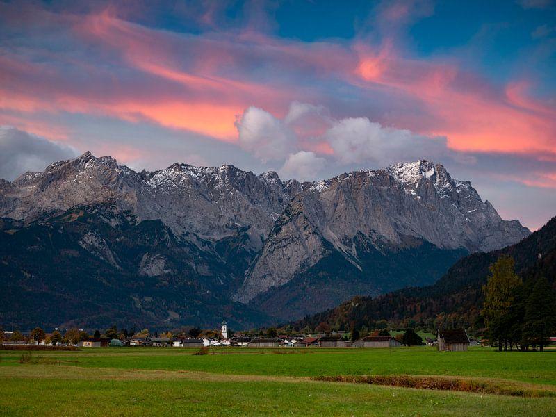 Morgenstimmung an der Zugspitze von Andreas Müller