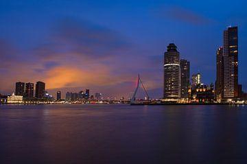 Skyline Rotterdam Erasmusbrug van