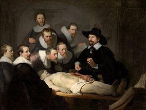 Rembrandt van Rijn, De anatomische les van Dr Nicolaes Tulp van Meesterlijcke Meesters