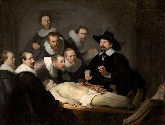 Rembrandt van Rijn, De anatomische les van Dr Nicolaes Tulp van Rembrandt van Rijn