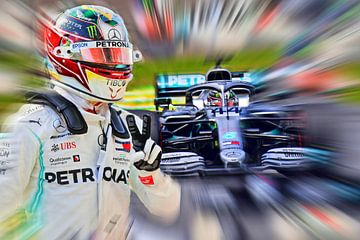 Wereldkampioen 2019 - Lewis Hamilton van Jean-Louis Glineur alias DeVerviers