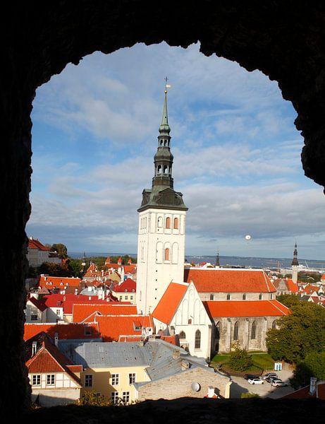 Ausblick vom Turm Kiek in de Kök auf die Nikolaikirche, Unterstadt, Altstadt,Tallinn, Estland, Europ von Torsten Krüger