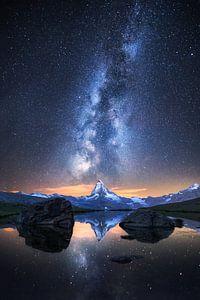 Matterhorn bei Nacht van Severin Pomsel